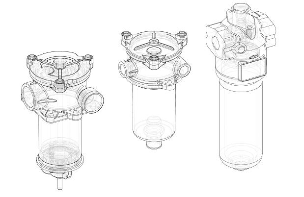 UFI hydraulic 3d drawings