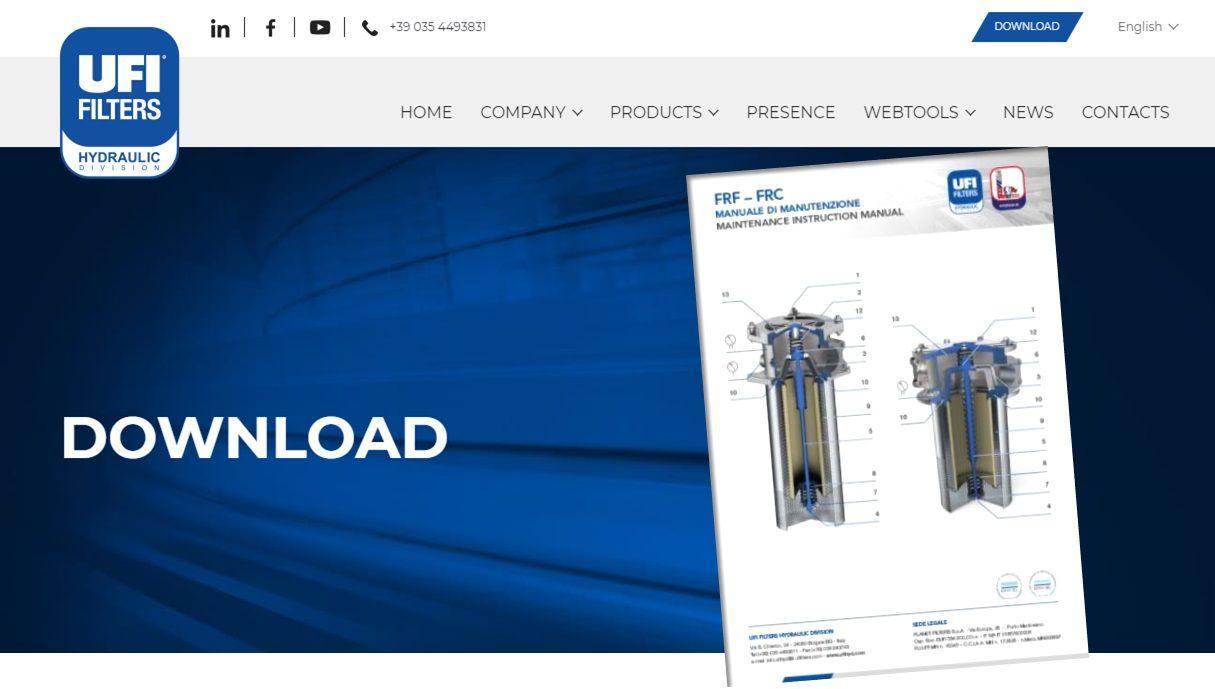 Return Line Filters Manuals - Manuali di Manutenzione dei Filtri su Ritorno